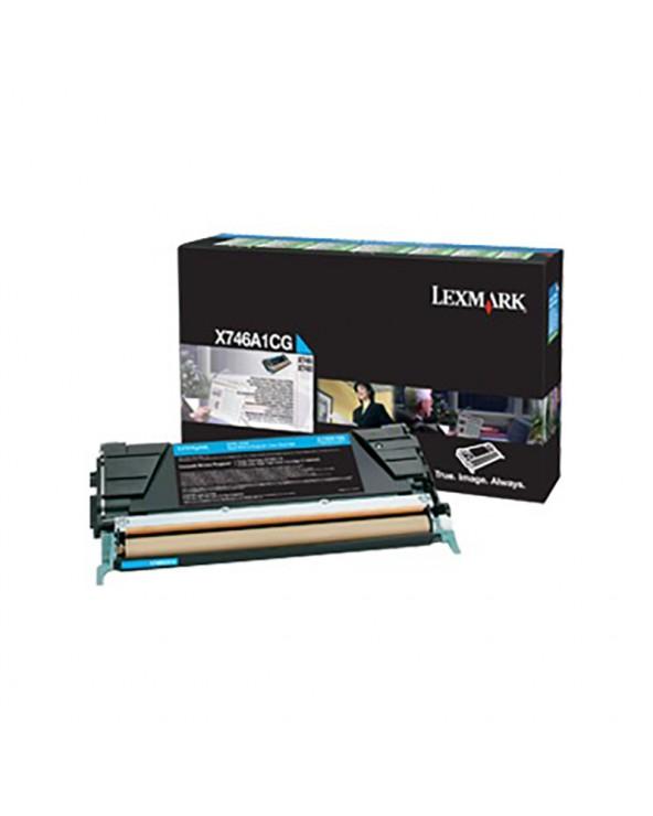 Lexmark Κασέτα Τόνερ X746A1CG Κυανό by DoctorPrint