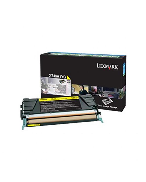 Lexmark Κασέτα Τόνερ X746A1YG Κίτρινο by DoctorPrint
