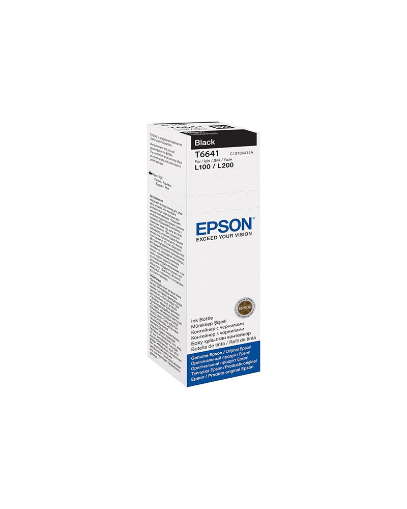 Epson Μελανοδοχείο T6641 Μαύρο by DoctorPrint