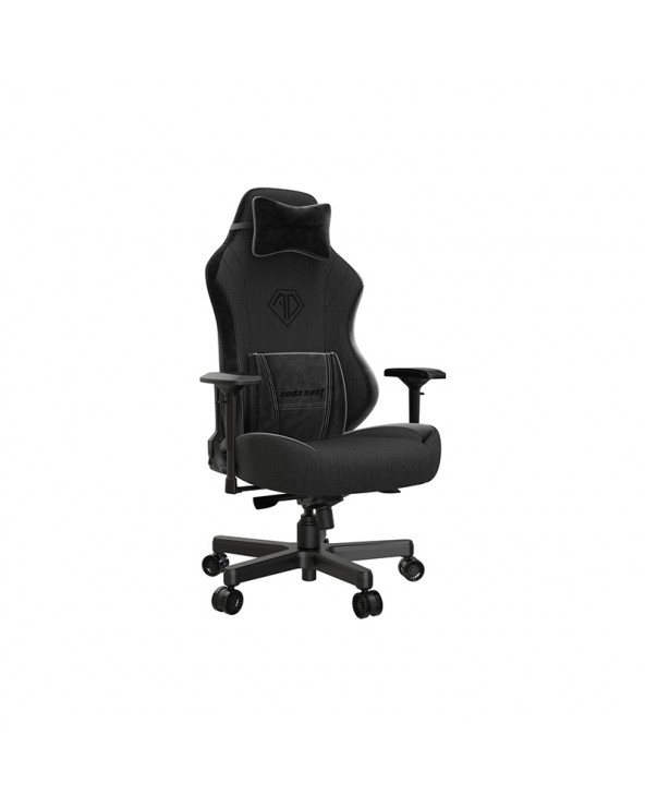 Anda Seat Gaming Chair AD18 T-PRO Black Fabric with Alcantara Stripes by DoctorPrint