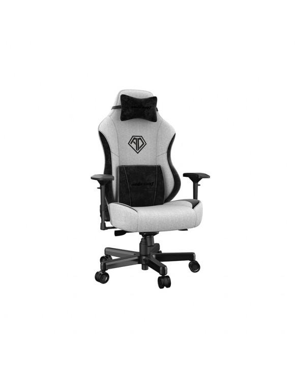 Anda Seat Gaming Chair AD18 T-PRO Light Grey - BlackFabric with Alcantara Stripes by DoctorPrint
