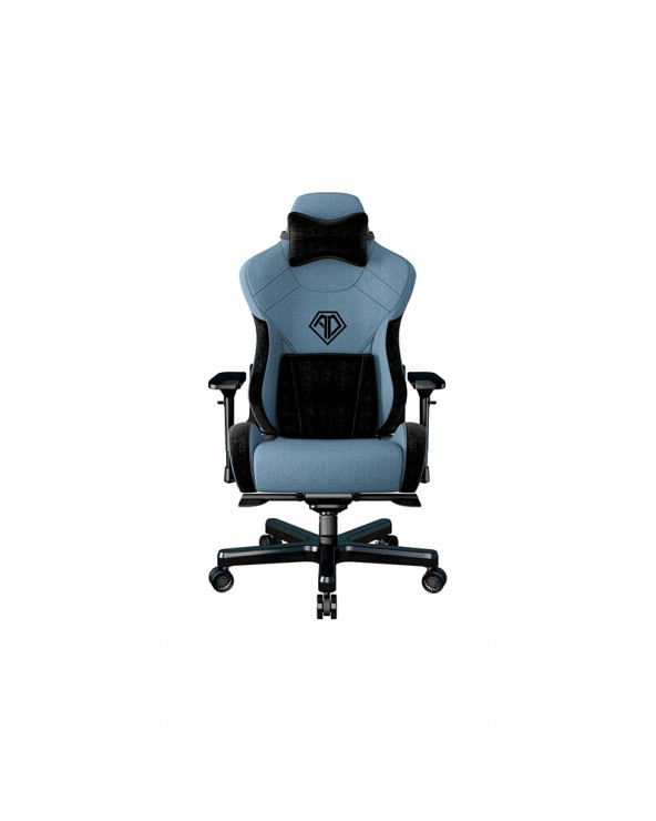 Anda Seat Gaming Chair T-PRO II Light Blue-Black Fabric with Alcantara Stripes by DoctorPrint