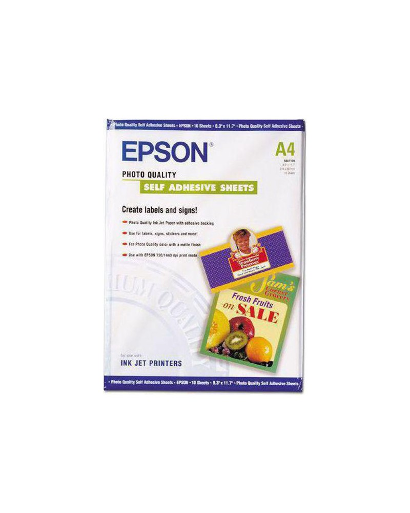 Epson Photo Quality Self Adhesive Paper A4 (10 Sheets) 167gr by DoctorPrint