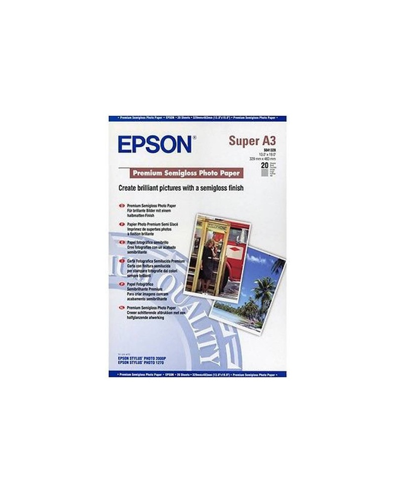 Epson Premium Photo Paper Semi Gloss A3+ (20 Sheets) 251gr by DoctorPrint