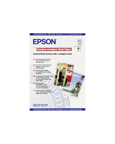 Epson Premium Photo Paper Semi Gloss A3 (20 Sheets) 251gr by DoctorPrint