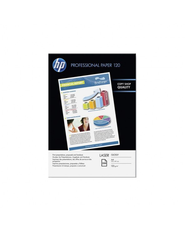 HP Professional Glossy Laser Paper A4 (250 sheets) 120gr by DoctorPrint