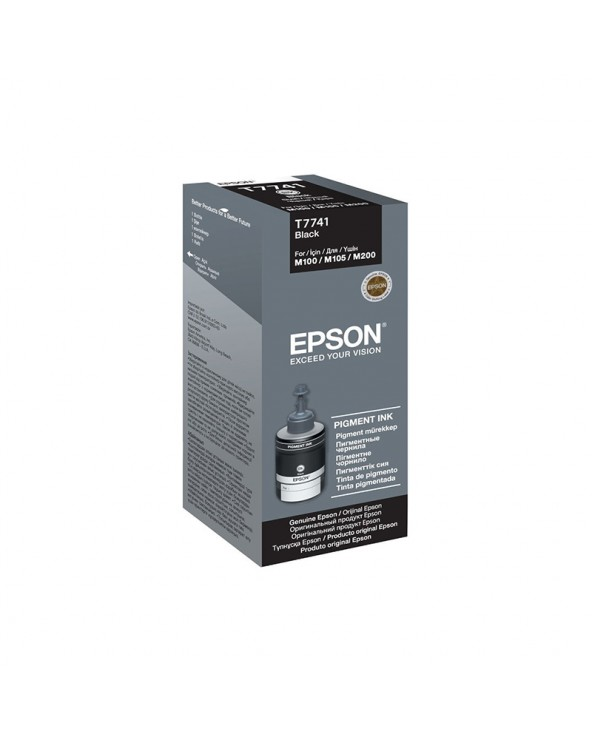 Epson Ink Bottle T7741 Black 140 ml by DoctorPrint