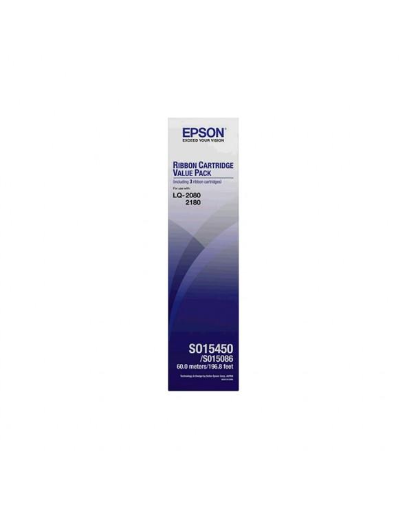 ΜΕΛΑΝΟΤΑΙΝΙΑ EPSON C13S015086 BLACK by DoctorPrint