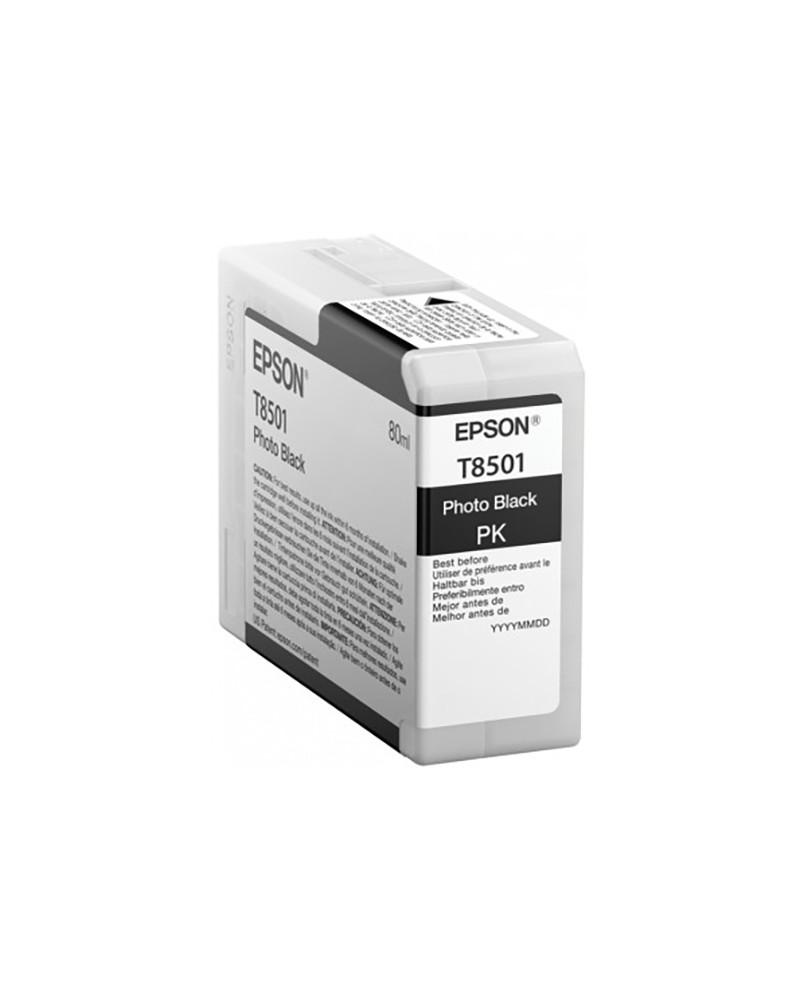 Epson Κασέτα Μελάνης T8501 Φωτογραφικό Μαύρο 80ml by DoctorPrint