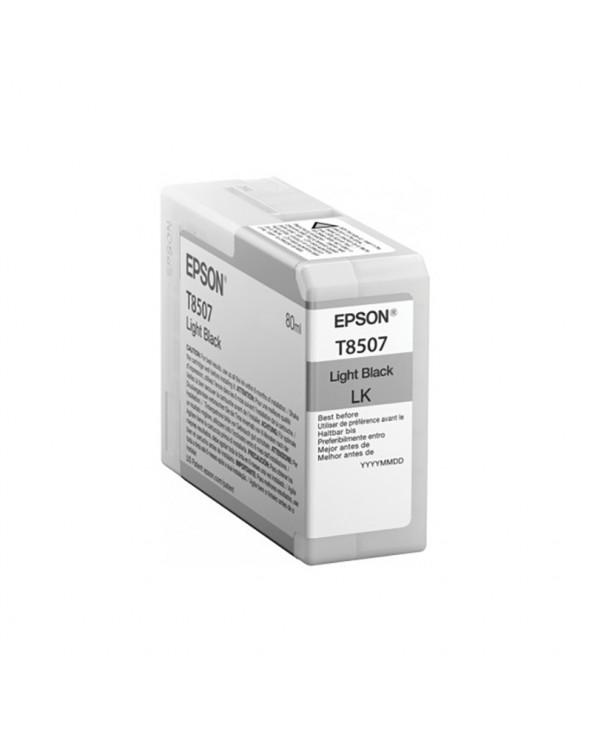 Epson Κασέτα Μελάνης T8507 Ανοιχτό Μαύρο 80ml by DoctorPrint